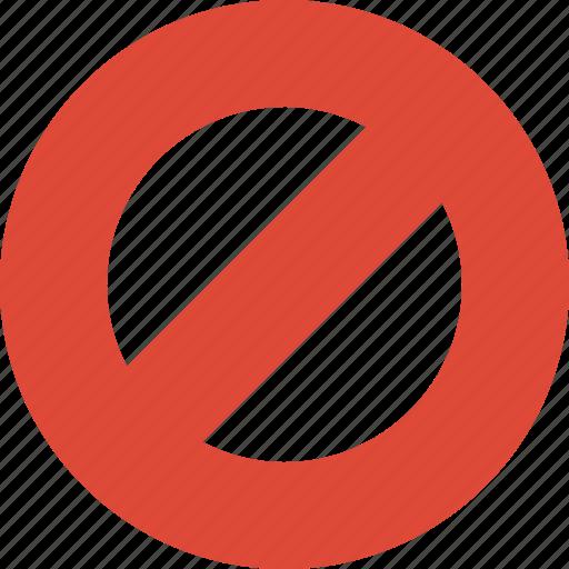 block, cancel, lock, stop icon