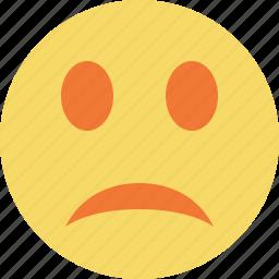 emoticon, emotion, face, smile, unhappy icon