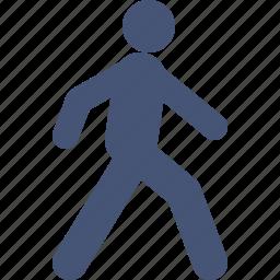 go, man, street, transport, walking icon
