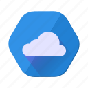 clean, cloud, clouds, cloudy, forecast, sun, weather icon
