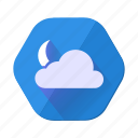 cloud, moon, clouds, cloudy, forecast, night, weather