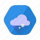 christmas, cloud, forecast, snow, snowfall, weather, winter icon