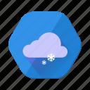 christmas, cloud, forecast, snow, snowfall, weather, winter icon