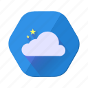 cloud, forecast, star, weather icon