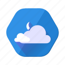 cloudy, moon, cloud, forecast, night, upload, weather