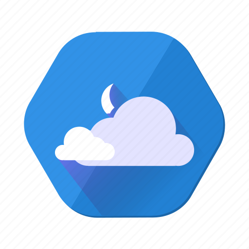 cloud, cloudy, forecast, moon, night, upload, weather icon