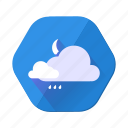 cloudy, moon, rain, clouds, forecast, weather, temperature