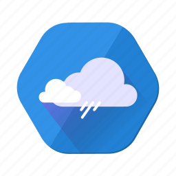 cloud, cloudy, forecast, rain, shower, storm, weather icon