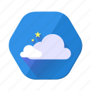 cloudy, star, forecast, rain, weather