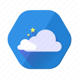 cloudy, forecast, rain, star, weather icon