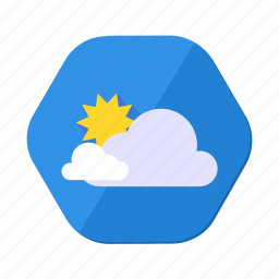 clouds, cloudy, day, forecast, sky, sun, weather icon
