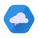 cloudy, forecast, rain, shower, weather icon