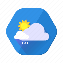 clouds, cloudy, day, rain, storm, sun, sunny icon