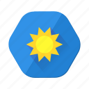 clouds, day, forecast, sun, sunlight, sunny, sunshine icon
