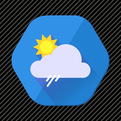 clouds, forecast, rain, shower, sun, sunny, weather icon