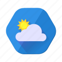 cloud, sunny, clouds, day, forecast, sun, weather