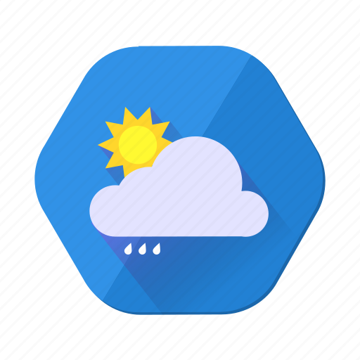 cloud, cloudy, day, forecast, rain, sunny, weather icon