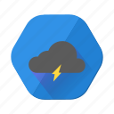 cloud, lightning, cloudy, forecast, weather