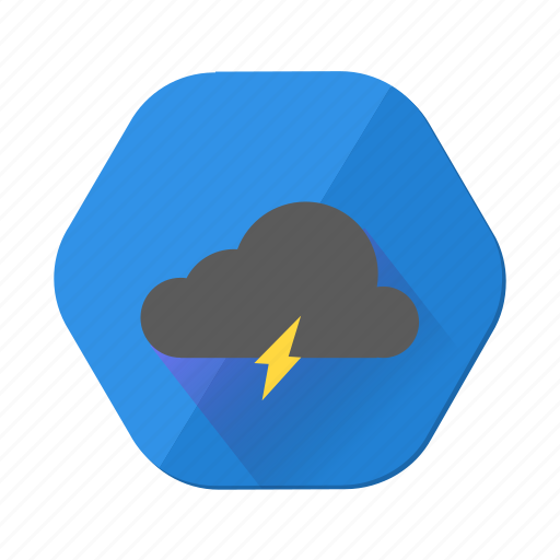 cloud, cloudy, forecast, lightning, weather icon
