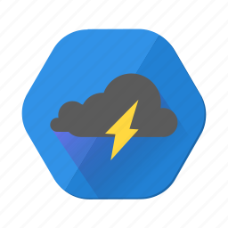 clouds, cloudy, forecast, lightning, rain, thunder, weather icon