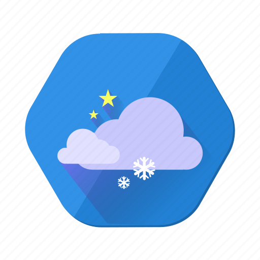 cloudy, forecast, snowfall, snowflake, star, weather, winter icon