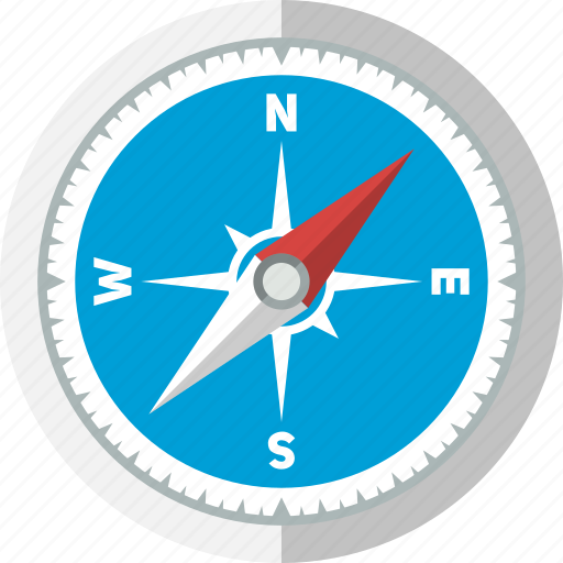 arrow, compass, direction, explore, navigation, safari, travel icon