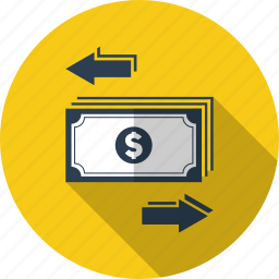accounting, currency, dollar, finance, money, transaction, transfer icon