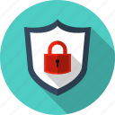 antivirus, guard, padlock, protect, security, shield, tough icon