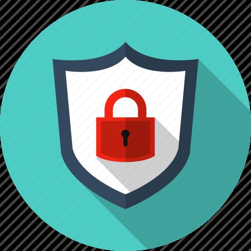 antivirus, guard, padlock, protect, security, shield, tough icon