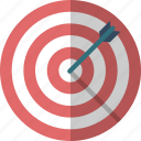 arrow, bulls eye, business goal, dartboard, goal, hit, target icon
