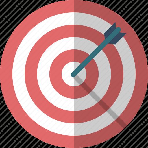 arrow, bulls eye, business goal, dartboard, goal, hit, target icon