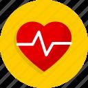 heart, heartbeat, hospital, medical icon
