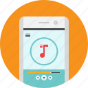 android, app, mobile, mp3, music, player, song icon