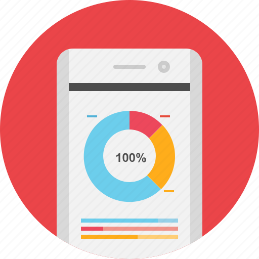 analytics, app, mobile, mobile analytics, smartphone, tool icon