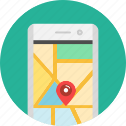 address, app, location, map, mobile, navigation, places icon