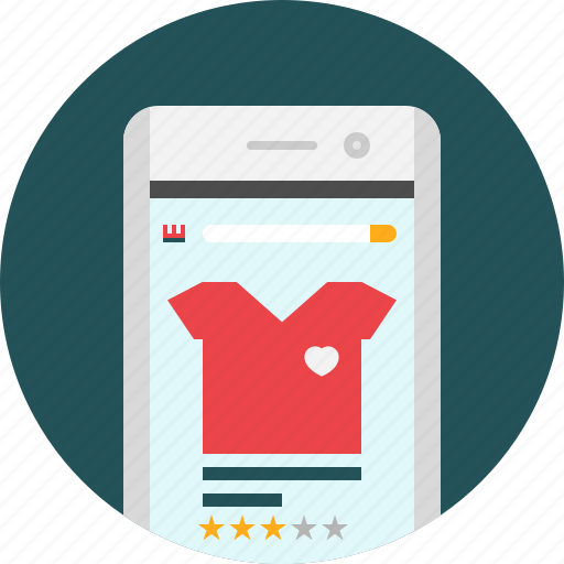 app, cart, eommerce, mobile, review, shopping, store icon