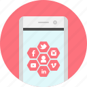 app, marketing, media, mobile, social, social networking icon