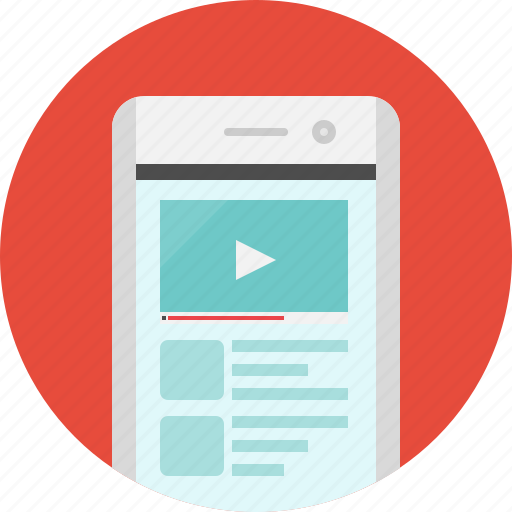 app, mobile, player, video, video player icon