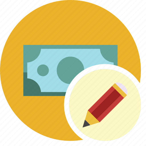 cash, commerce, currency, dollar, edit, money icon