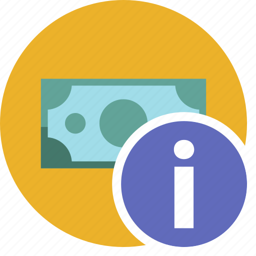 cash, commerce, currency, dollar, info, money icon