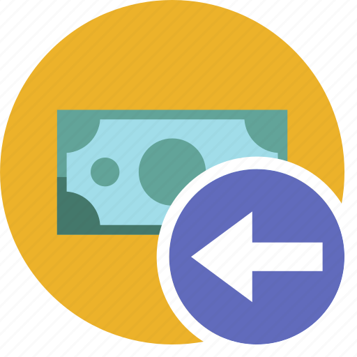 cash, commerce, currency, dollar, left, money icon