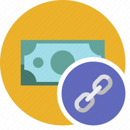 cash, commerce, currency, dollar, link, money icon