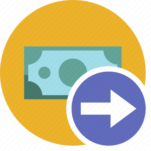 cash, commerce, currency, dollar, money, right icon