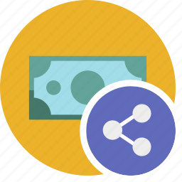 cash, commerce, currency, dollar, money, share icon