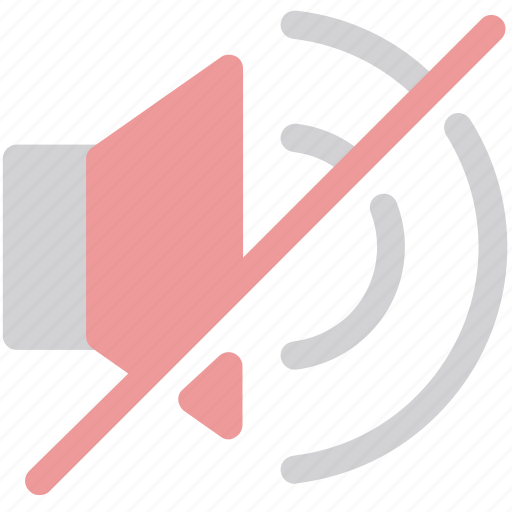 mute, no audio, no sound, silence icon