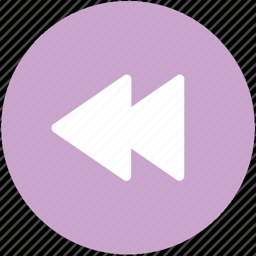 audio, back, music, rewind, sound icon