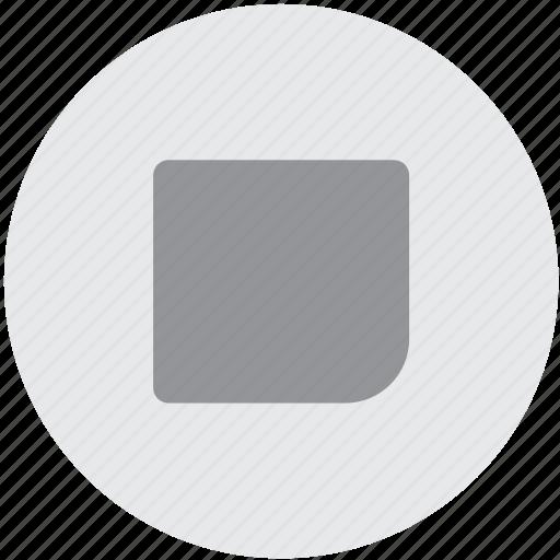 audio, end, music, sound, square, stop icon