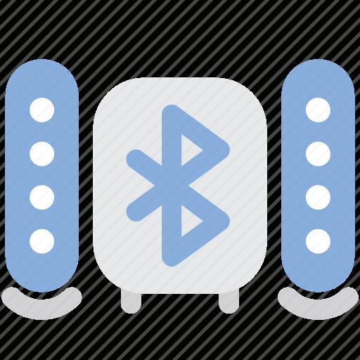 bluetooth, bluetooth speaker, music, speaker, sub woofer, wireless icon