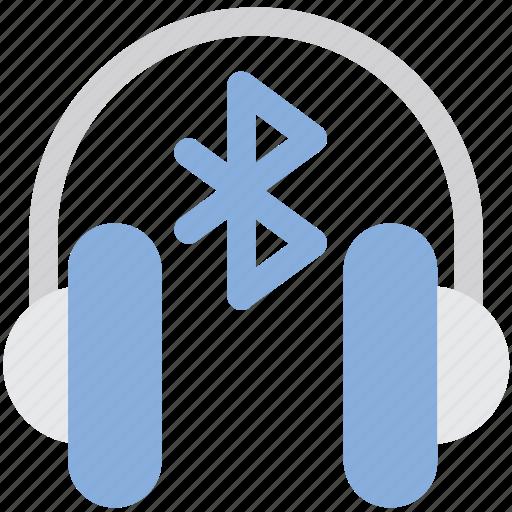 bluetooth, device, earphones, headphones, internet, music icon
