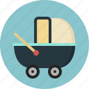 baby, car, carriage, cart, trolley icon